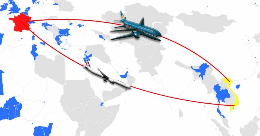 pour se rendre au vietnam au dpart de la france vous pouvez trouver facilement des vols directs bon march au dpart de paris