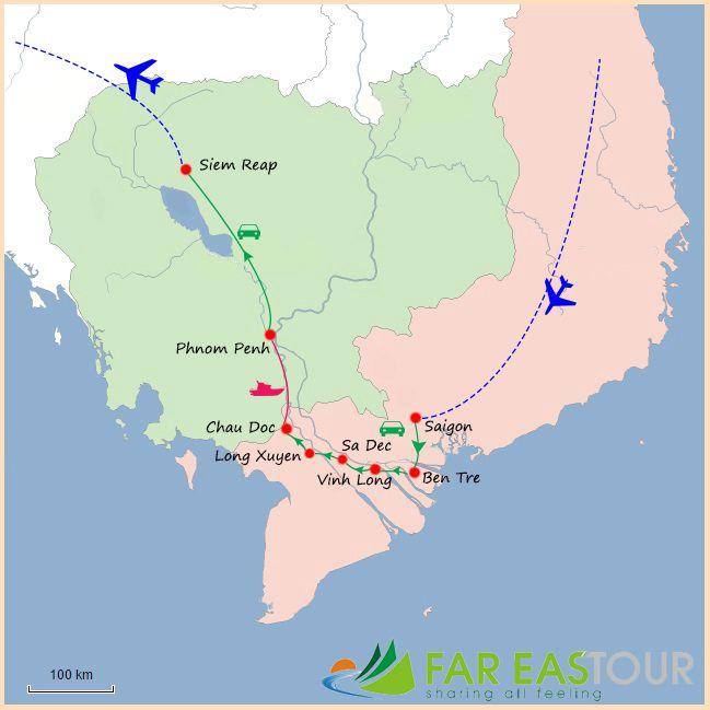 Assez Voyage Combiné Sud Vietnam et Cambodge 12 jours HZ88