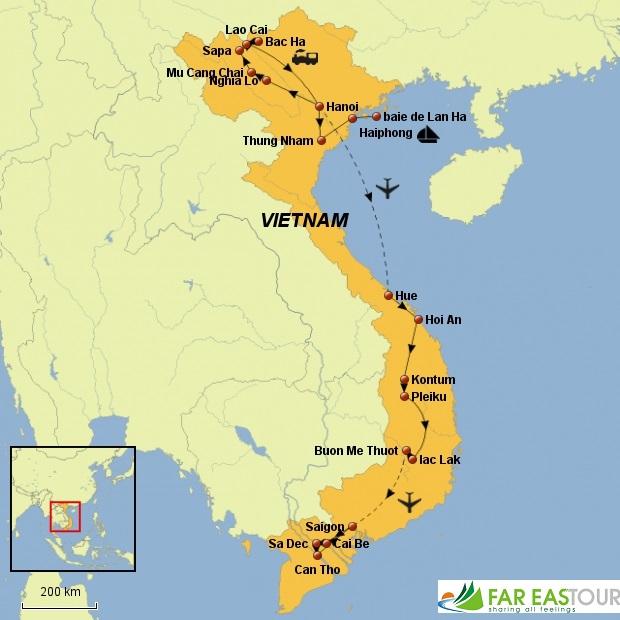Carte-du-voyage-Vietnam-hors-des-sentiers-battus-3-semaines