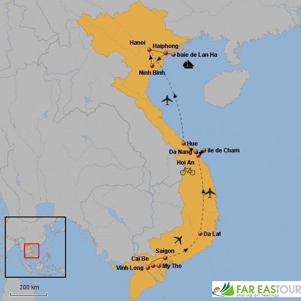 Carte-du-voyage-au-Vietnam-en-famille-15-jours