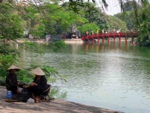 Le lac de Hoan Kiem à Hanoi