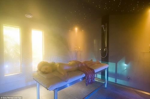 la salle de bain au vapeur